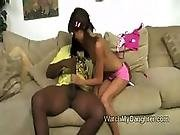 Daughter in interracial sucking video