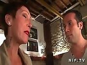 Big Titted And Tattooed French Mature Gets Her Tight Ass Hammered
