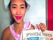 Stickyasian18 Thai Cherry Gags On Cock To Get Model Job