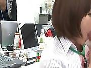 Couple Nymphs Have Banged By Their Colleagues Inside An Office