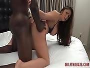 Brunette Milf Interracial With Creampie