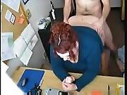 bbw ,  boss,  chubby,  doggystyle,  fat ,  fucking,  office,  redhead