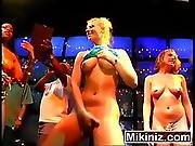 Sorority Strip Off Amateur Blonde Brunette Ebony Party Spring