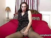 Horny Chick In Pantyhose Is Masturbating