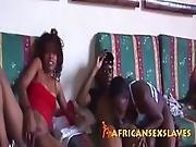 Ebony Chicks Banging Throbbing Cocks At African Party