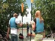 Bubble-butt Blonde Enjoys A Cock-ride