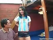 Alluring babe Marianna Delgado is getting two dicks2