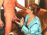 French Mature Fucked In Pleated Skirt.