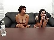 Threesome Anal Casting Couch