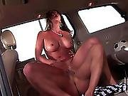 Large Racked Cougar Raquel Devine Acquires Shagged Int This Chab Back Of A Car