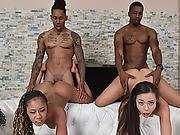 Awesome Ebony Orgy With Misty And Adriana