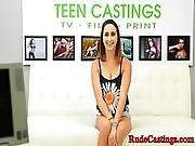 Bigbooty Teen Filmed At Brutal Casting