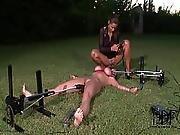 bound,  dominatrix,  femdom,  fucking,  machine fucking,  outdoor,  tied