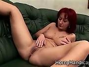 Horny Redhead Milf Takes Care Of Her Cockstarving Pussy