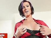 Breasty Solo Ladyman With Teat Piercings Tugs