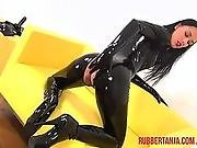 catsuit,  cuffed,  domination,  fetish,  fucking,  gagged,  kinky,  latex,  lesbian,  mask,  masturbation,  rubber,  strapon,  toys