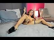Asian Hottie Smoking And Masturbating
