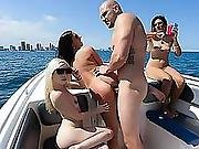 Sexy Babes Enjoyed A Hot Orgy In A Boat Party