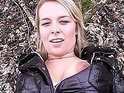 Slutty Blonde Babe Fucks A Stranger In The Forest