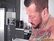 Hairy Dude With A Tight Ass Hole And A Cock Ring Gets On Top Of A Bearded Stud And Gets Asshole Worked