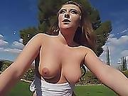 Brunette With Incredibly Sexy Booty Worships Massive Dick And Gets Fucked