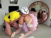 anal,  bicycle,  couple,  hardcore,  stocking