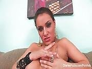 Naturally Busty Charley Chase Makes Herself Cum