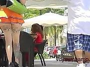 Upskirt Exhibitionist Wife Morgan Flashing In Public Streets!