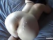 Camilla Loves To Play With Cum - Busty Amateur Wife Cumshot Compilation