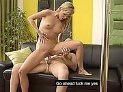 Teen Blonde Cheats On Her Boyfriend With His Daddy