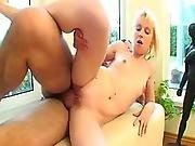 Young Blonde Gets Fucked In The Living Room