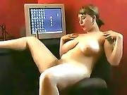 Fat Chubby Teen With Nice Tits Plays With Wet Hairy Pussy