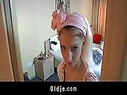 Horny Hotel Maid Fucks An Oldman Customer