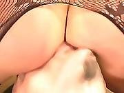 body stocking,  crotchless,  facesitting,  femdom,  lick,  lingerie,  mother,  muff,  oral,  pussy,  smothering,  stocking