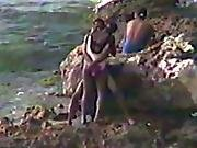 beach,  black,  cuban,  outdoor,  public,  sex ,  voyeur