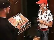 Super Cute Delivered Pizza And Pussy