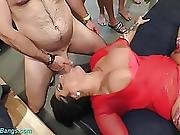 Busty Ashley Cum Star In Wild Gangbang Party