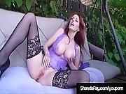Horny Cougar Shanda Fay Sucks Fucks Camera Guy In Backyard