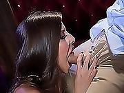 Madison Ivy Giving Keiran Lee A Deep Throat Blowjob