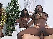 Kay Love And Destinee Jackson Caught In Hot Interracial Threesome