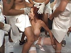 Raunchy Bailey Odare Gets Her Mouth Stuffed With Cock