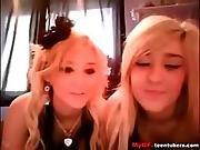 amateur,  blonde,  lesbian,  lesbian teen,  pussy,  sexy,  teen,  twins,  webcam