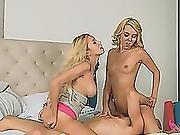 Step Mom Aaliyah And Teen Marsha Sharing Schlong
