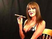 babe,  big tit,  cigarette,  slut