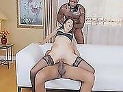 Cougar Eva Long Riding Big Black Cocks Sucking