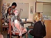 bdsm,  domination,  lesbian,  punish,  shaving,  tied