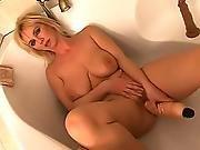 amateur,  bathtub,  blonde,  dildo,  masturbation,  mature,  tub