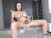 Luscious Nympho Is Pissing And Fingering Trimmed Cunt