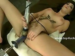 Two Lovely Blondes Are Tied Up And Forced To Take A Bunch Of Dildos And Fucking Machines In Asses