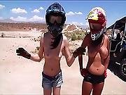 Badass Chicks From Playboy Do Some Naked Motocross